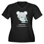 Skating Women's Plus Size V-Neck Dark T-Shirt