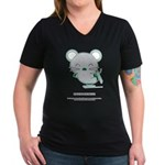 Skating Women's V-Neck Dark T-Shirt