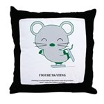 Skating Throw Pillow