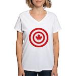 Captain Canada Women's V-Neck T-Shirt