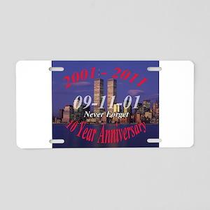 911 10 year anniversary Aluminum License Plate