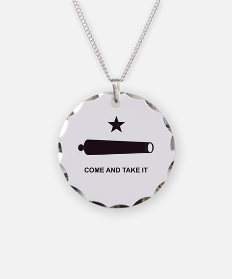 """""""GONZALES FLAG"""" Necklace Circle Charm"""