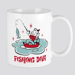 Retro Fishing Diva Mug