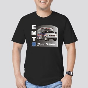 Custom Personalized EMT Men's Fitted T-Shirt (dark