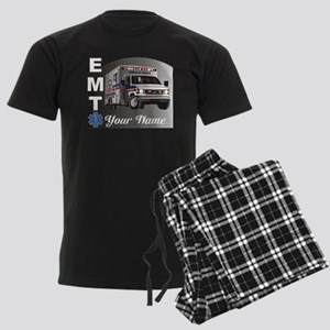 Custom Personalized EMT Men's Dark Pajamas