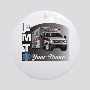 Custom Personalized EMT Ornament (Round)