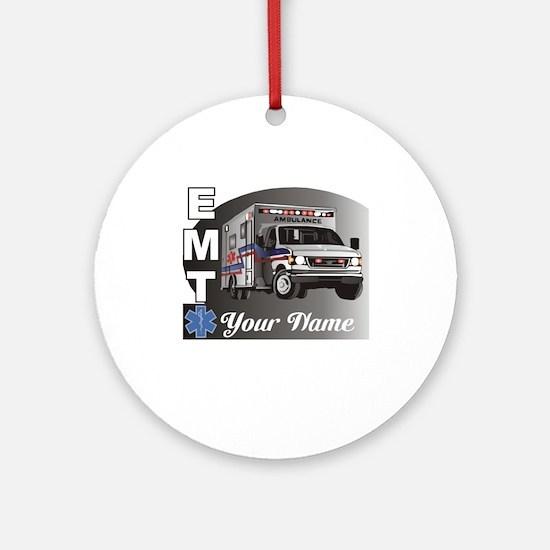 Custom Personalized EMT Ornament (Round)