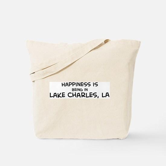 Happiness is Lake Charles Tote Bag