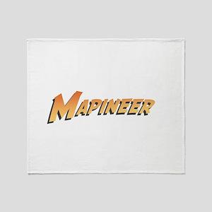 Mapineers Throw Blanket