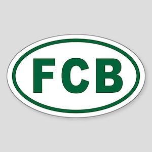FCB Euro Oval Sticker