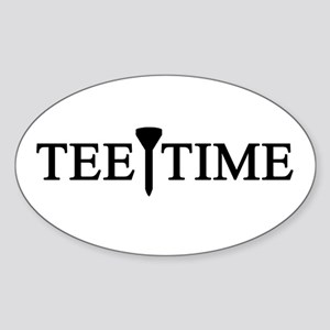 'Tee Time' Sticker (Oval)