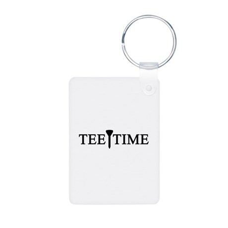 'Tee Time' Aluminum Photo Keychain