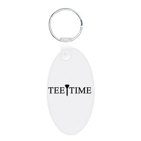 'Tee Time' Aluminum Oval Keychain