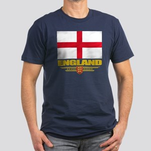 Flag of England Men's Fitted T-Shirt (dark)