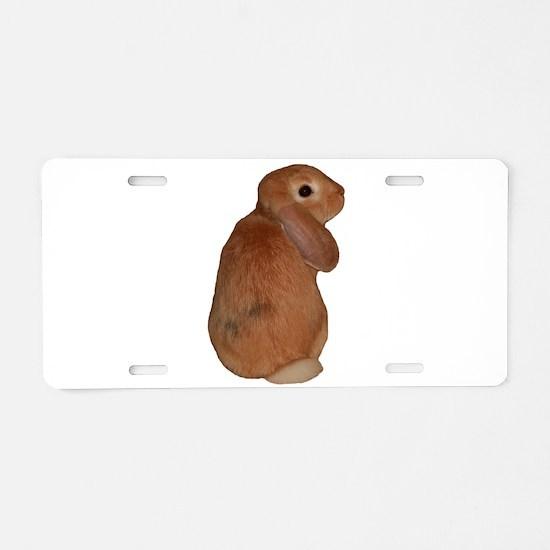 """Bunny 8"" Aluminum License Plate"