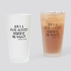 Jane Austen Quote Drinking Glass