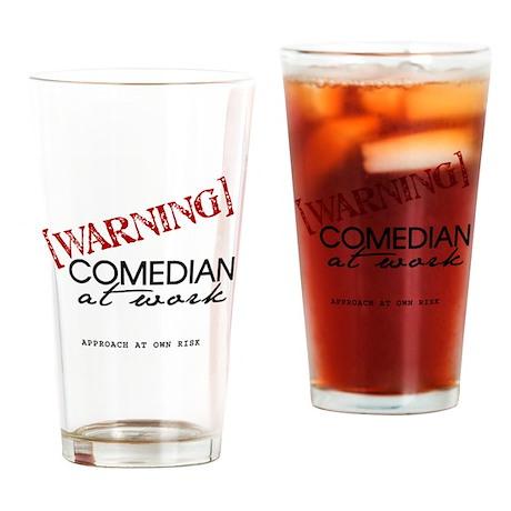 Warning: Comedian Drinking Glass
