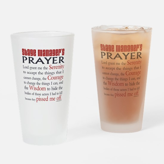 Stage Manager's Prayer Drinking Glass