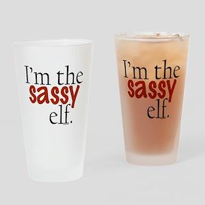 Sassy Elf Drinking Glass