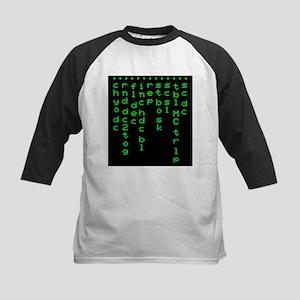 'Crochet Matrix' Kids Baseball Jersey