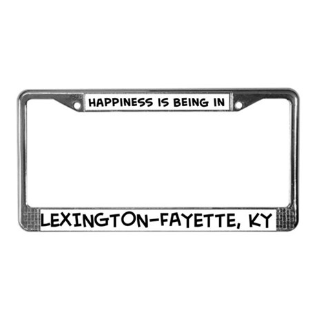 Happiness is Lexington-Fayett License Plate Frame