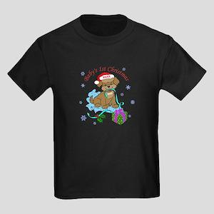 Baby's 1st Christmas Kids Dark T-Shirt