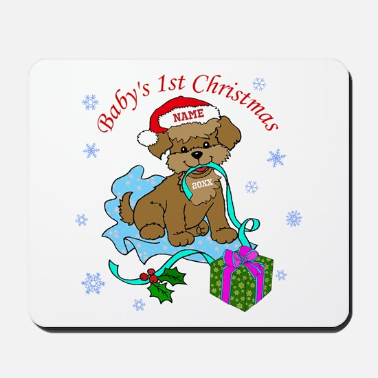 Baby's 1st Christmas Mousepad