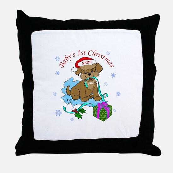 Baby's 1st Christmas Throw Pillow