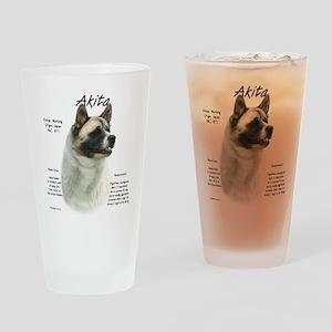 Akita (pinto) Drinking Glass