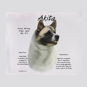 Akita (pinto) Throw Blanket