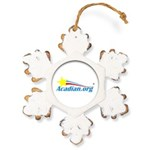Acadian Rustic Snowflake Ornament
