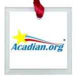 Acadian Square Glass Ornament