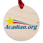Acadian Maple Round Ornament