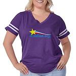 Acadian Women's Plus Size Football T-Shirt