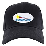 Acadian Baseball Hat Black Cap With Patch
