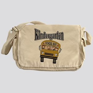 School Bus Kindergarten Messenger Bag