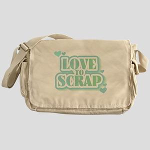 Love To Scrap Messenger Bag