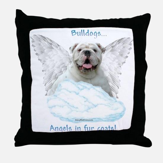 Bulldog 6 Throw Pillow
