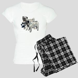 two pugs Women's Light Pajamas