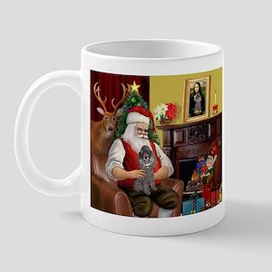 Santa's Silver Toy Poodle Mug