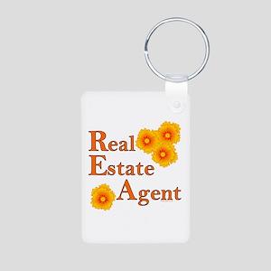 Real Estate Agent Aluminum Photo Keychain