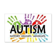 Autism:Handprint 22x14 Wall Peel