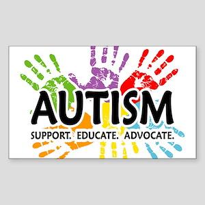 Autism:Handprint Sticker (Rectangle)