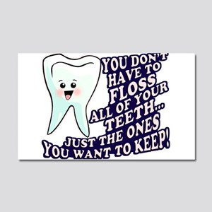 Brush and Floss Car Magnet 20 x 12