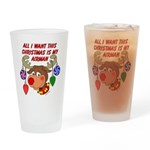 Christmas I want my Airman Drinking Glass
