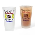 Debate Politicians Support So Drinking Glass