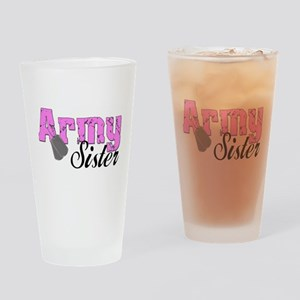 Army Sister Drinking Glass