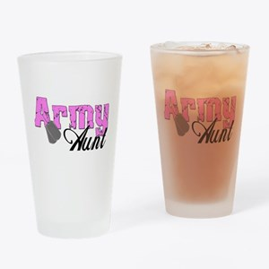 Army Aunt Drinking Glass