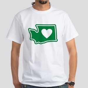 Heart in Washington White T-Shirt