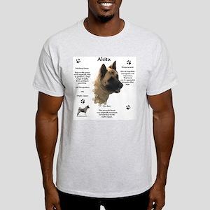 Akita 1 Ash Grey T-Shirt